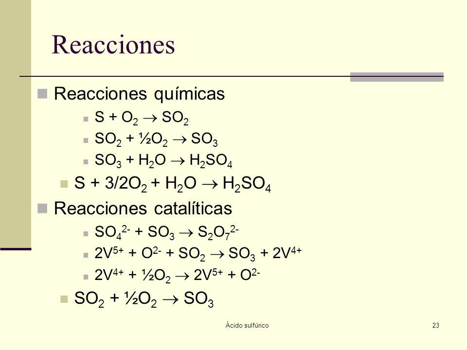Reacciones Reacciones químicas Reacciones catalíticas