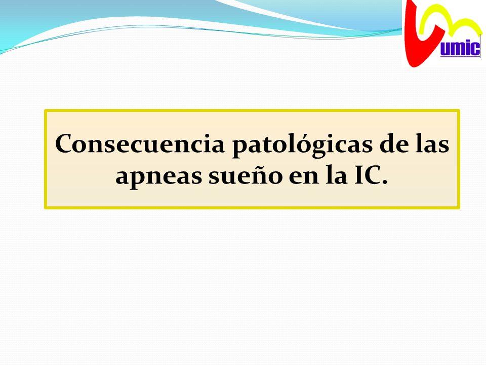 Consecuencia patológicas de las apneas sueño en la IC.