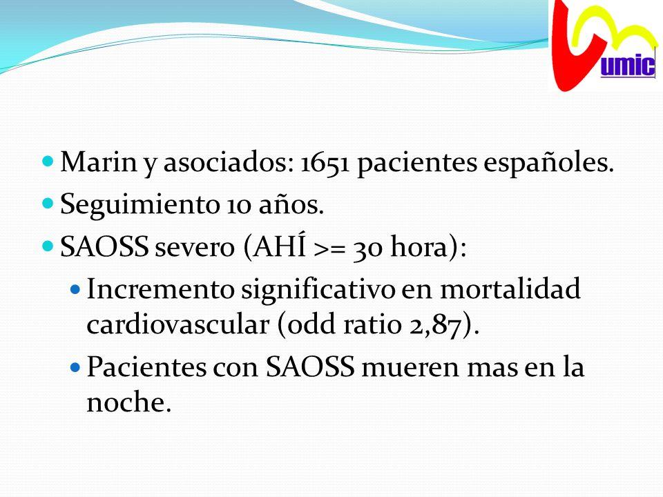 Marin y asociados: 1651 pacientes españoles.