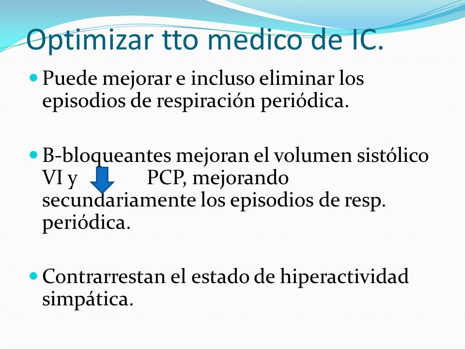 Optimizar tto medico de IC.