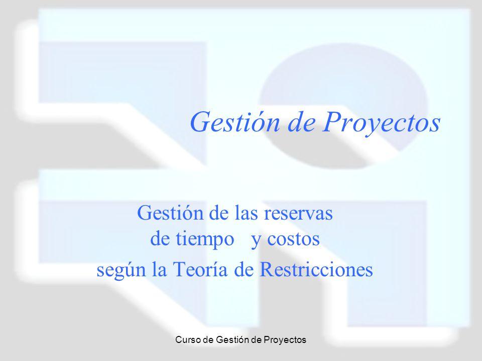 Gestión de Proyectos Gestión de las reservas de tiempo y costos