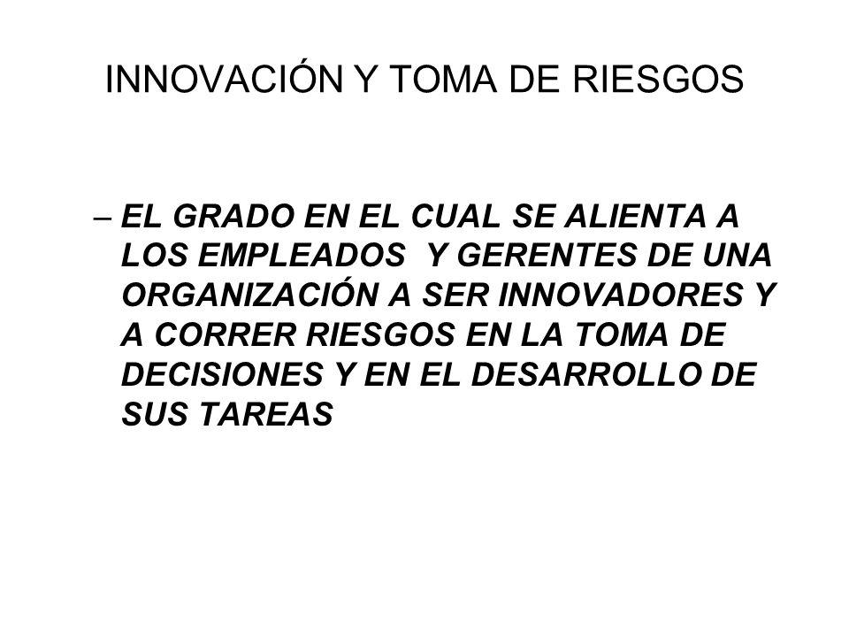 INNOVACIÓN Y TOMA DE RIESGOS