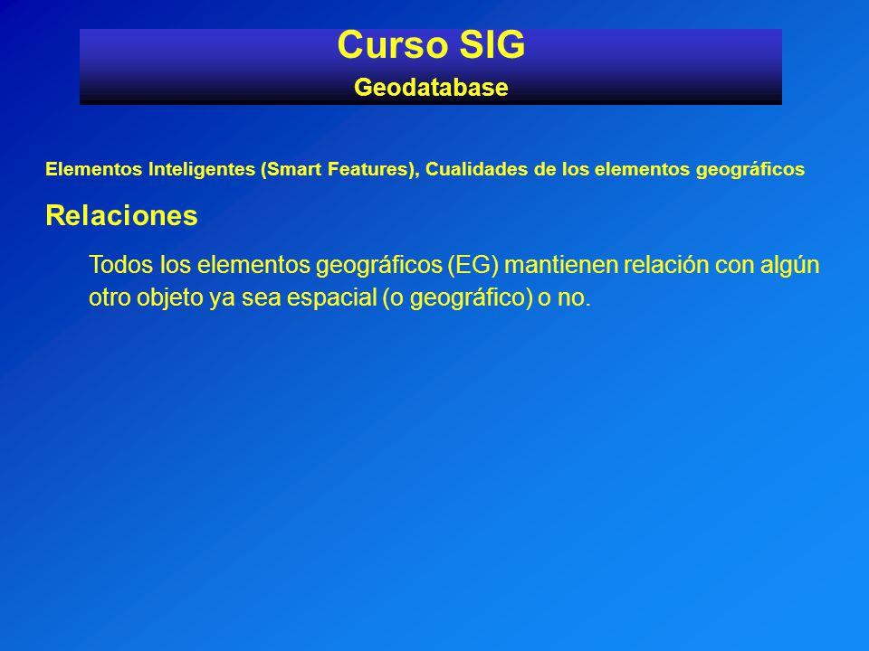 Curso SIG Relaciones Geodatabase