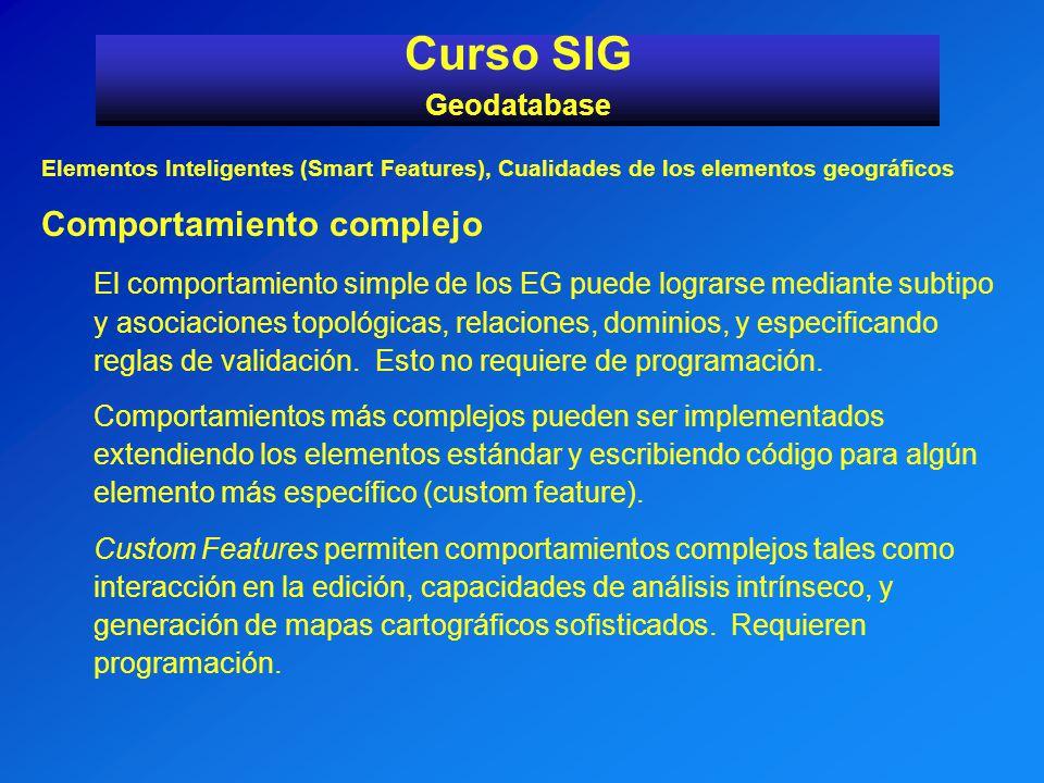 Curso SIG Comportamiento complejo Geodatabase