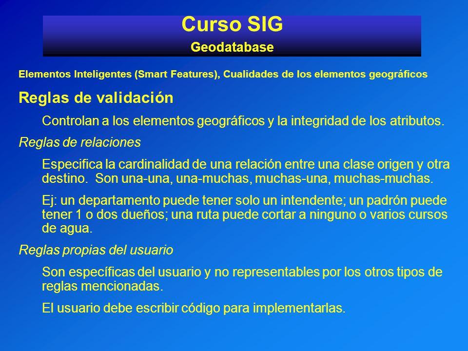 Curso SIG Reglas de validación Geodatabase