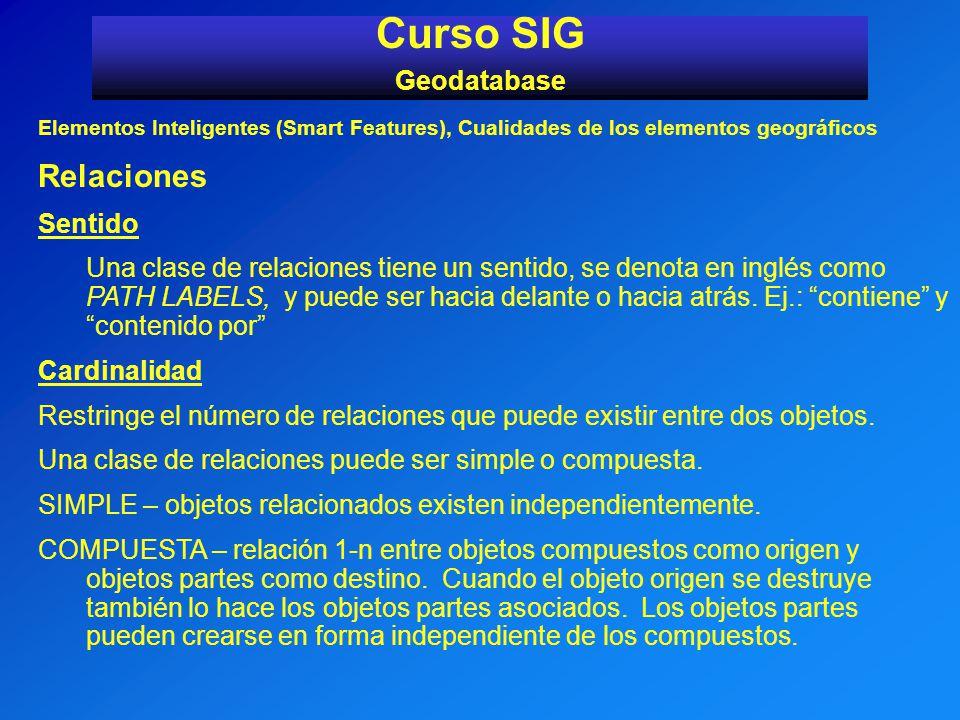 Curso SIG Relaciones Geodatabase Sentido