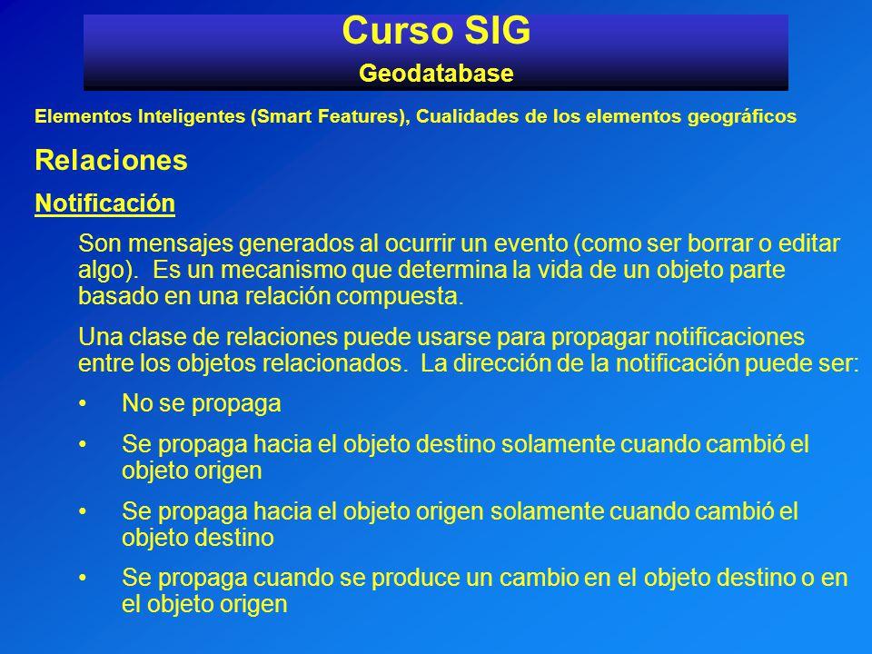 Curso SIG Relaciones Geodatabase Notificación