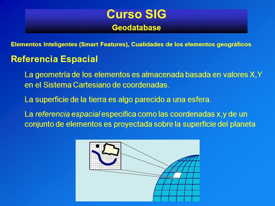 Curso SIG Referencia Espacial Geodatabase