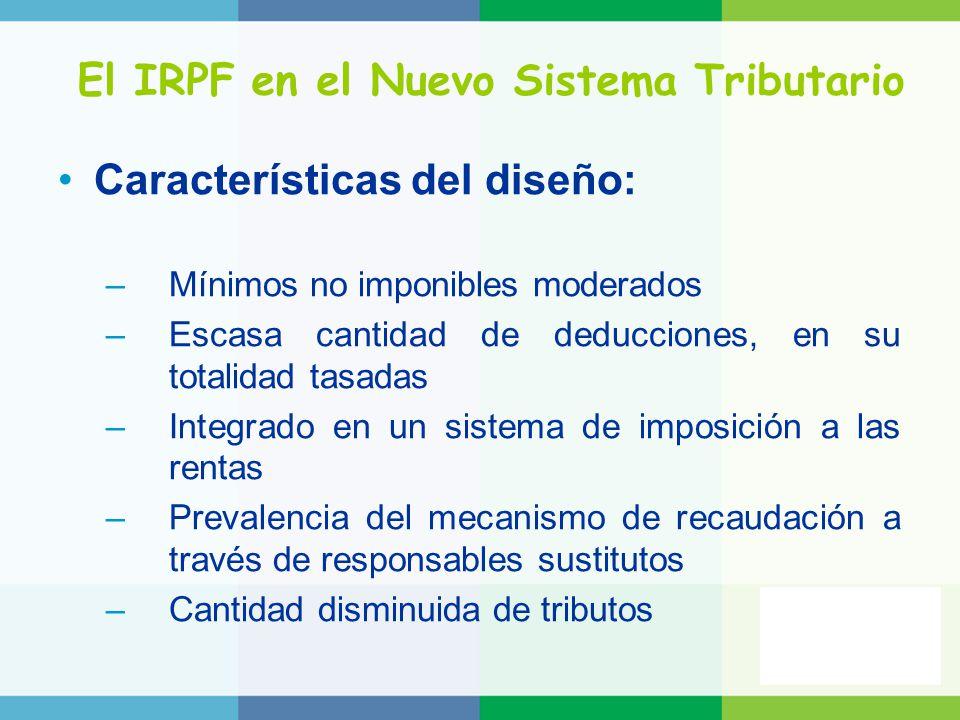 El IRPF en el Nuevo Sistema Tributario