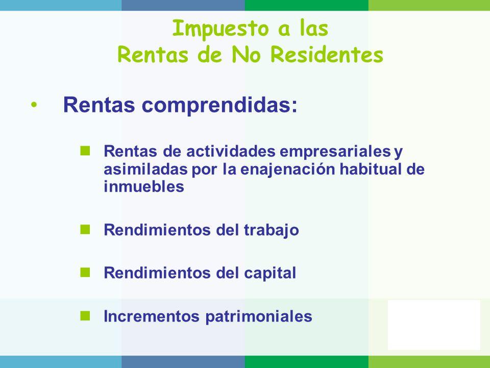 Impuesto a las Rentas de No Residentes