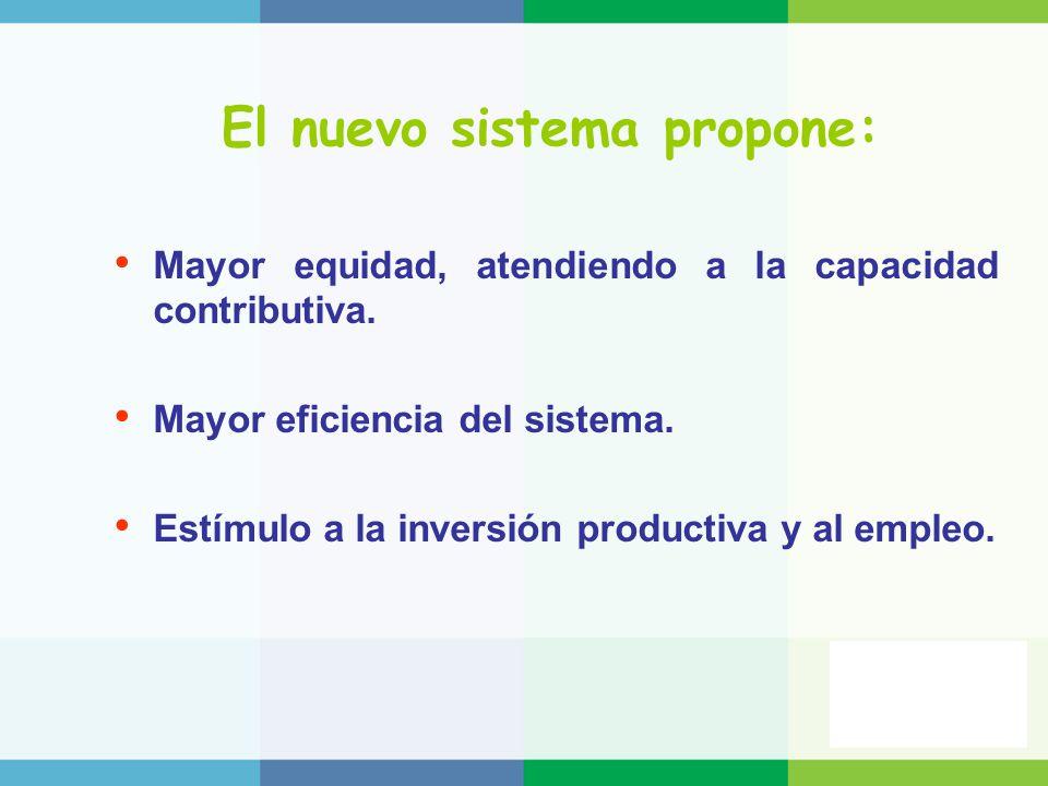El nuevo sistema propone: