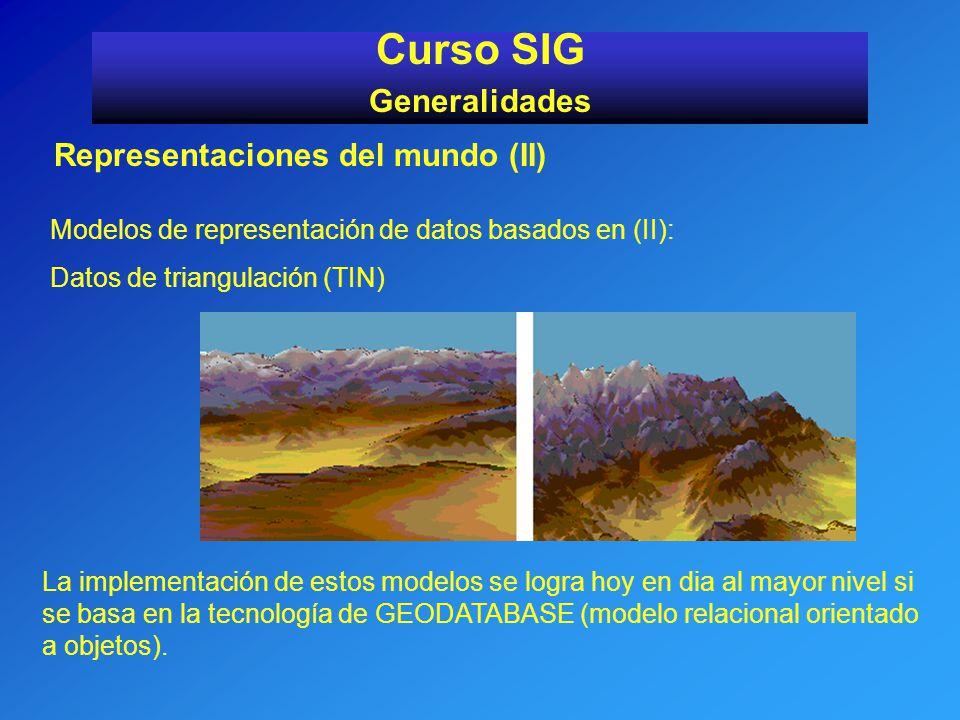 Curso SIG Generalidades Representaciones del mundo (II)