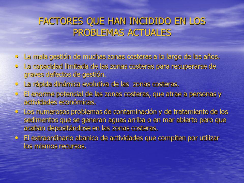 FACTORES QUE HAN INCIDIDO EN LOS PROBLEMAS ACTUALES