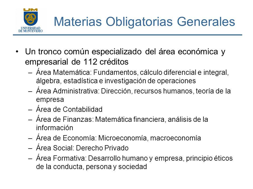 Materias Obligatorias Generales