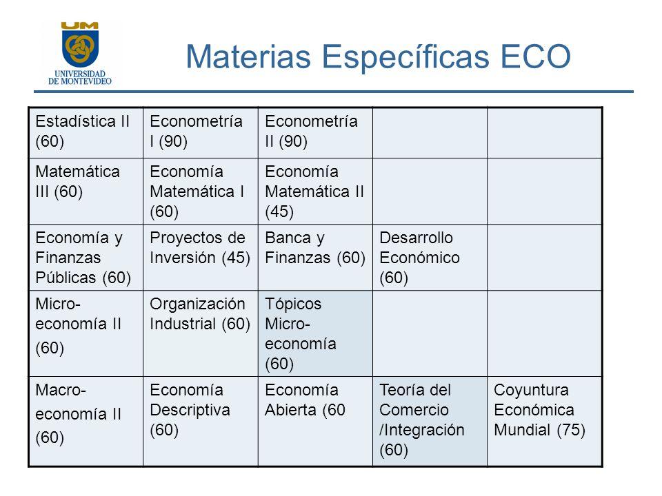 Materias Específicas ECO