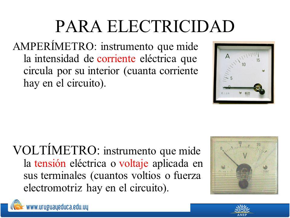 PARA ELECTRICIDAD