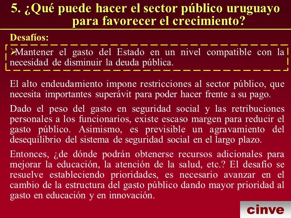 5. ¿Qué puede hacer el sector público uruguayo para favorecer el crecimiento