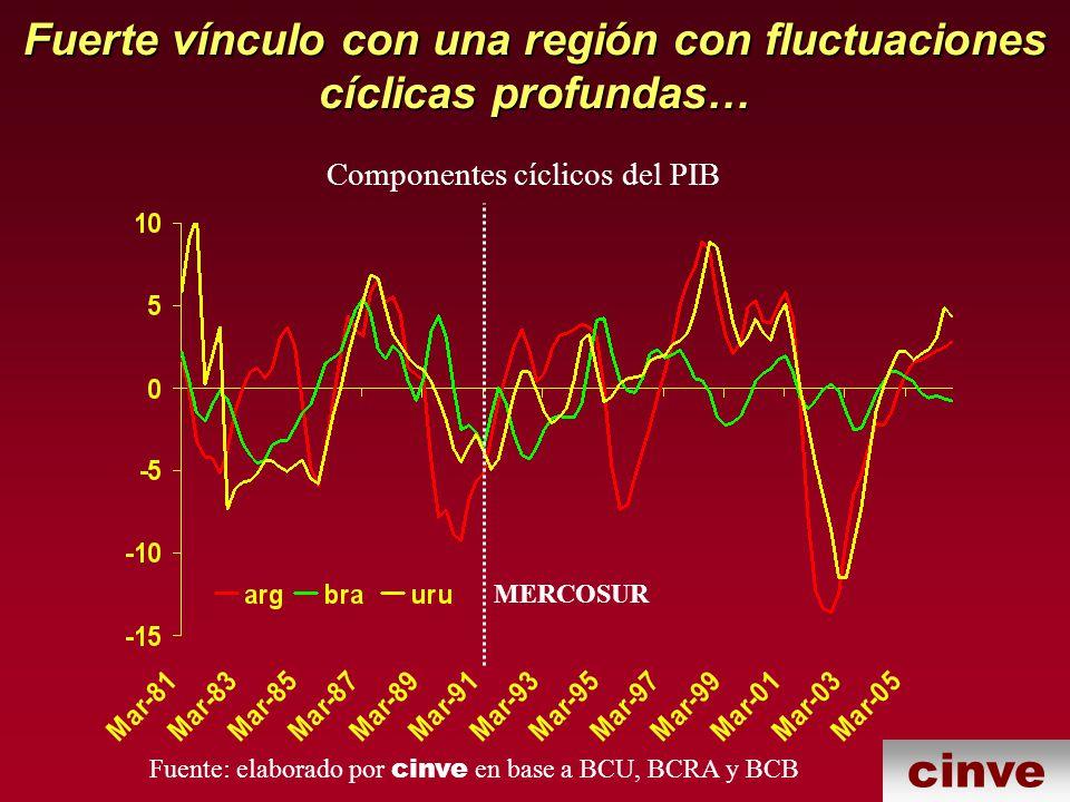 Fuerte vínculo con una región con fluctuaciones cíclicas profundas…