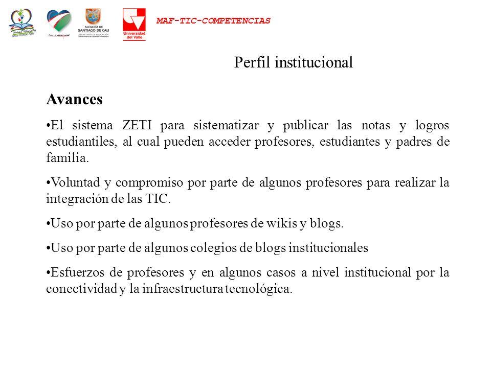 Perfil institucional Avances
