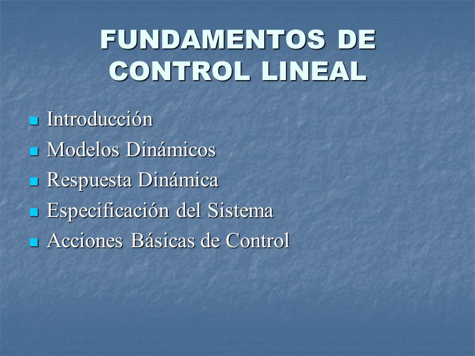 FUNDAMENTOS DE CONTROL LINEAL
