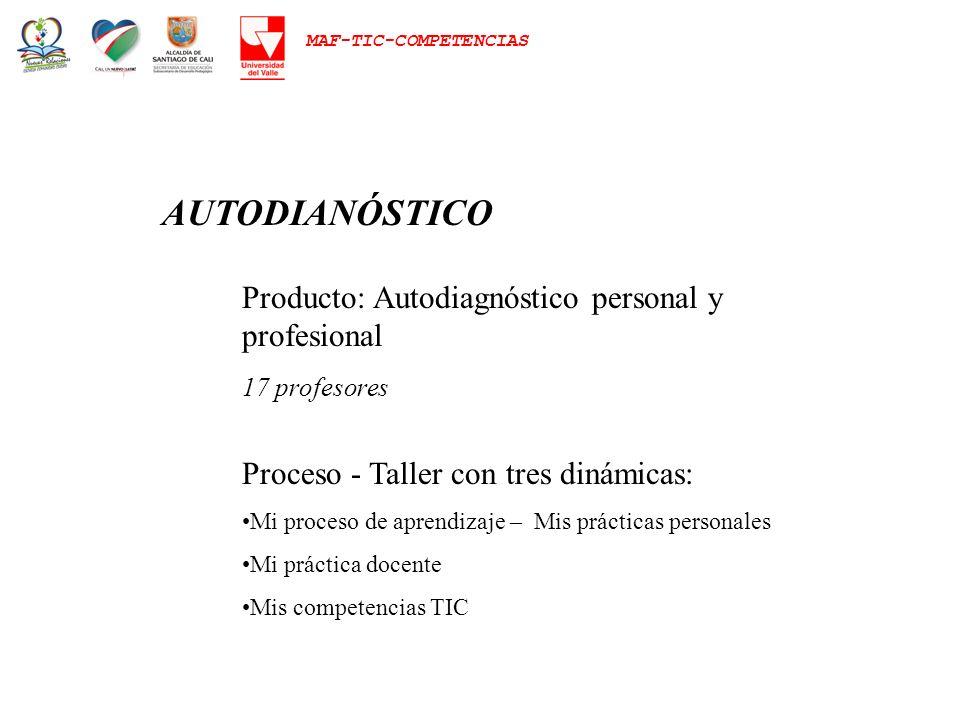 AUTODIANÓSTICO Producto: Autodiagnóstico personal y profesional