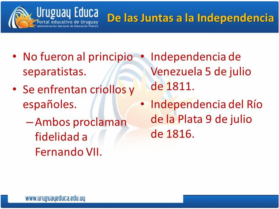 De las Juntas a la Independencia