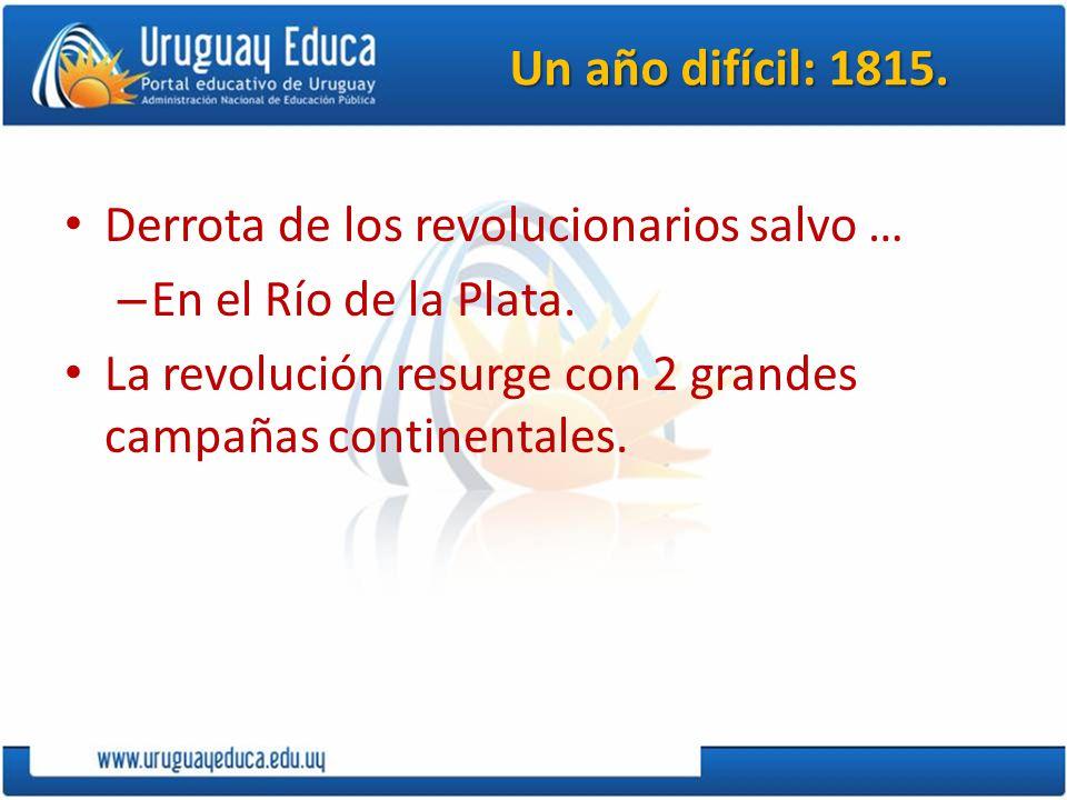 Un año difícil: 1815. Derrota de los revolucionarios salvo …