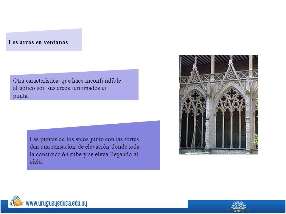 Los arcos en ventanas Otra característica que hace inconfundible. al gótico son sus arcos terminados en.