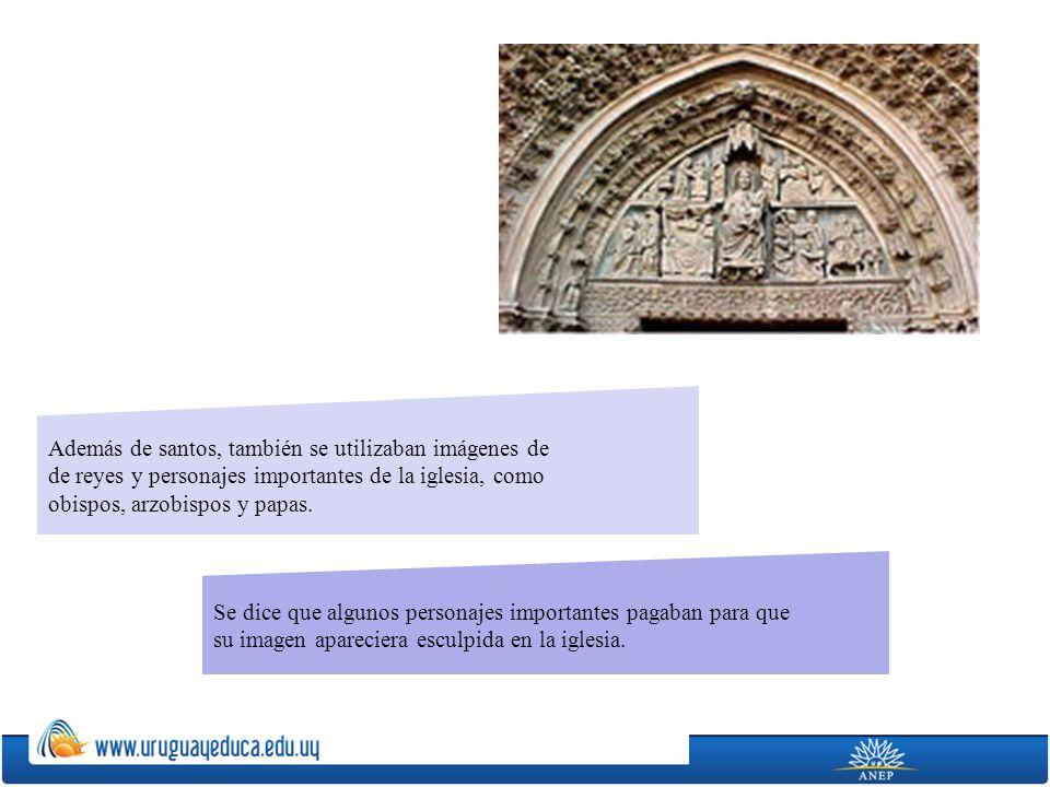 Además de santos, también se utilizaban imágenes de