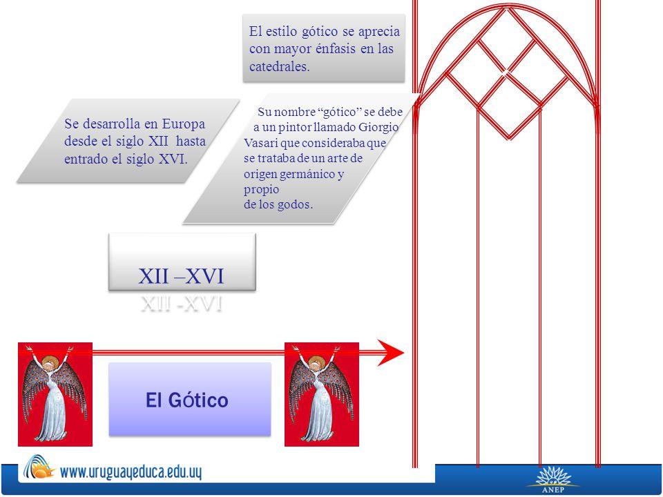 XII –XVI XII -XVI El Gótico El estilo gótico se aprecia