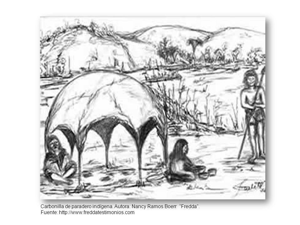 Carbonilla de paradero indígena. Autora: Nancy Ramos Boerr Fredda .