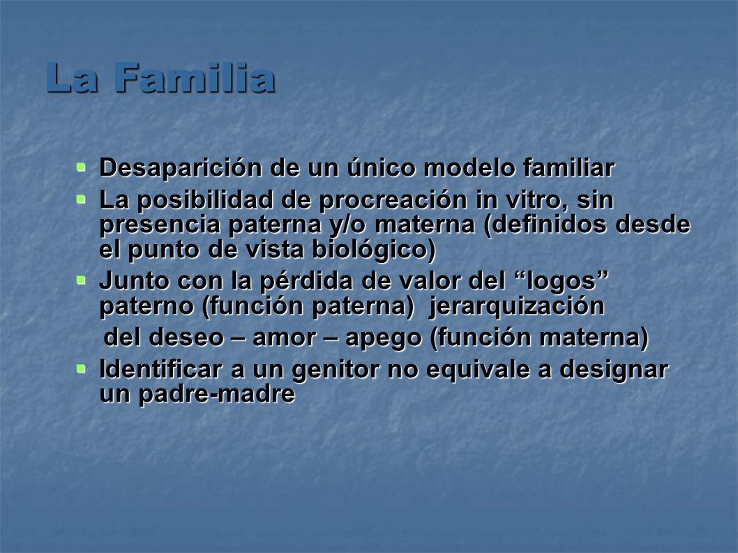 La Familia Desaparición de un único modelo familiar