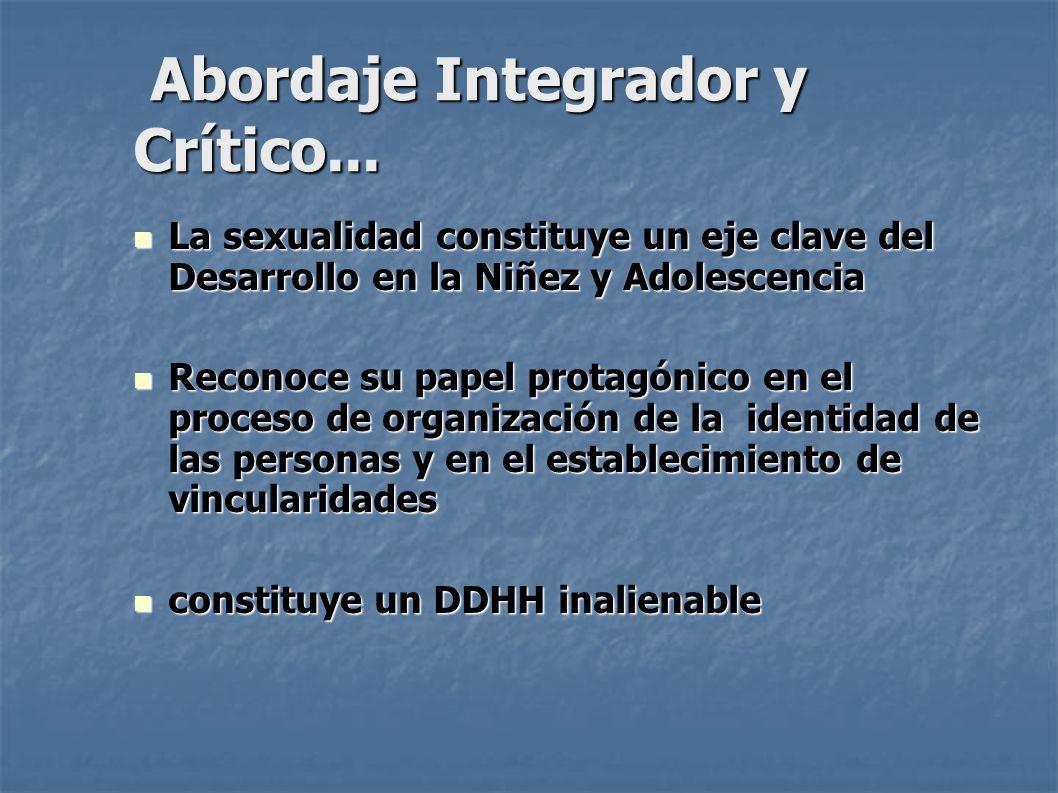 Abordaje Integrador y Crítico...