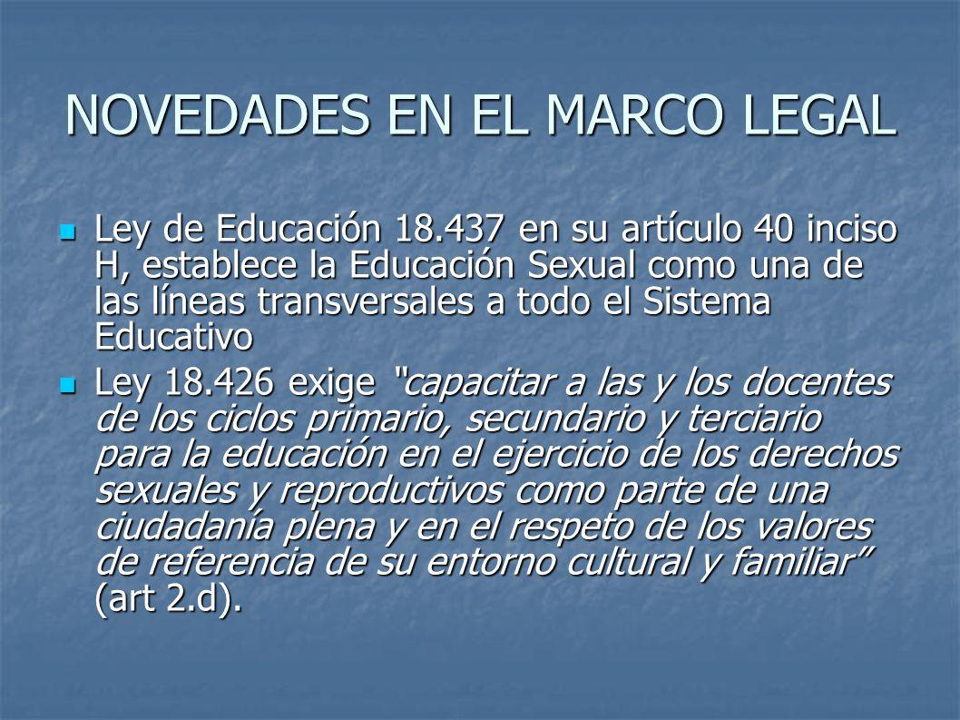NOVEDADES EN EL MARCO LEGAL