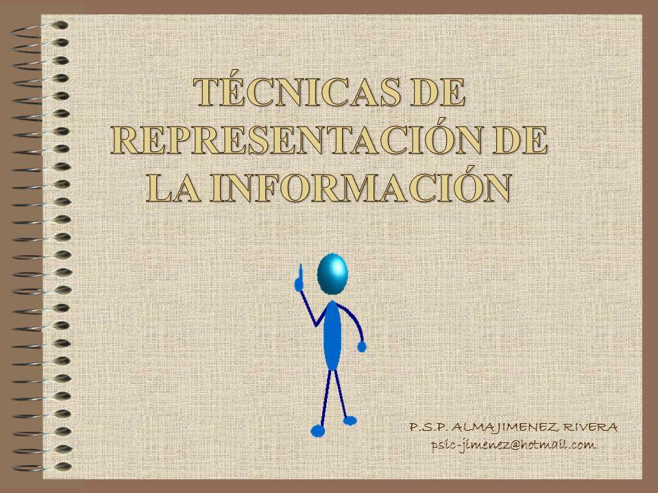 TÉCNICAS DE REPRESENTACIÓN DE LA INFORMACIÓN