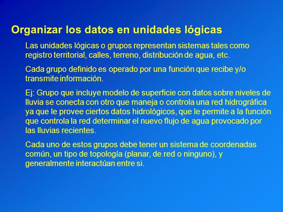 Organizar los datos en unidades lógicas