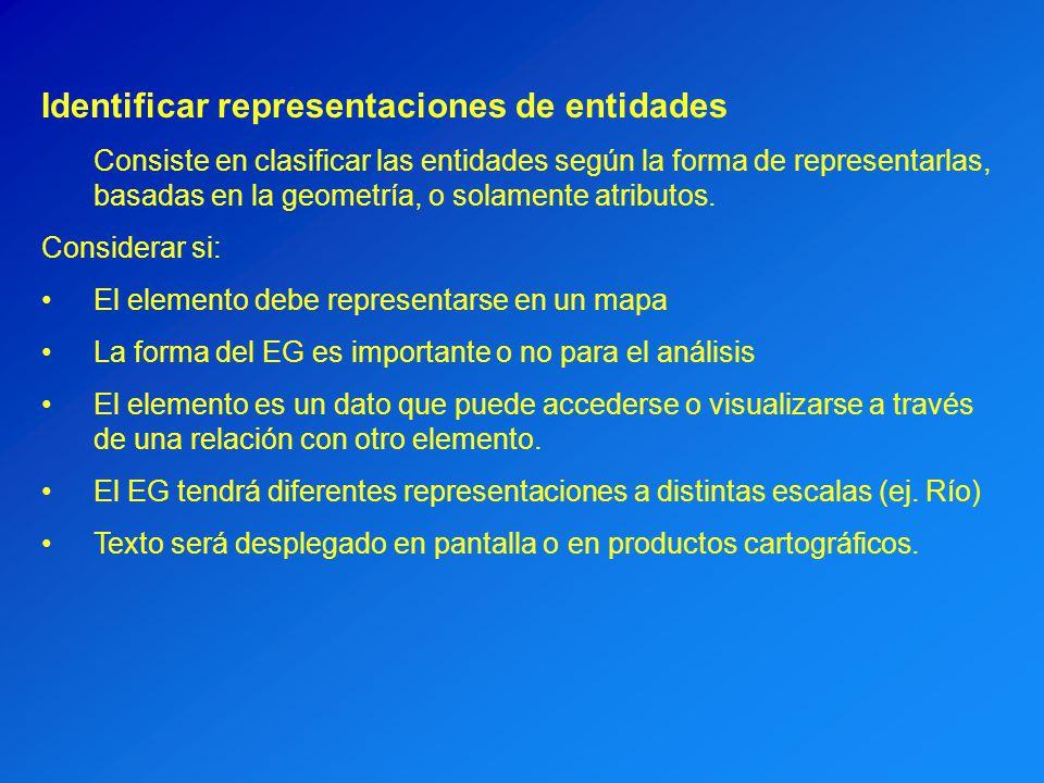 Identificar representaciones de entidades