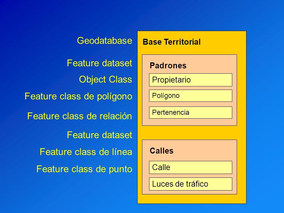 Feature class de polígono Feature class de relación