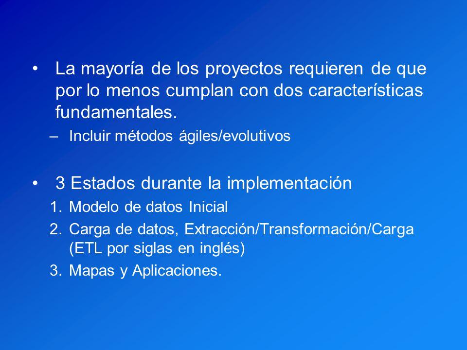 3 Estados durante la implementación