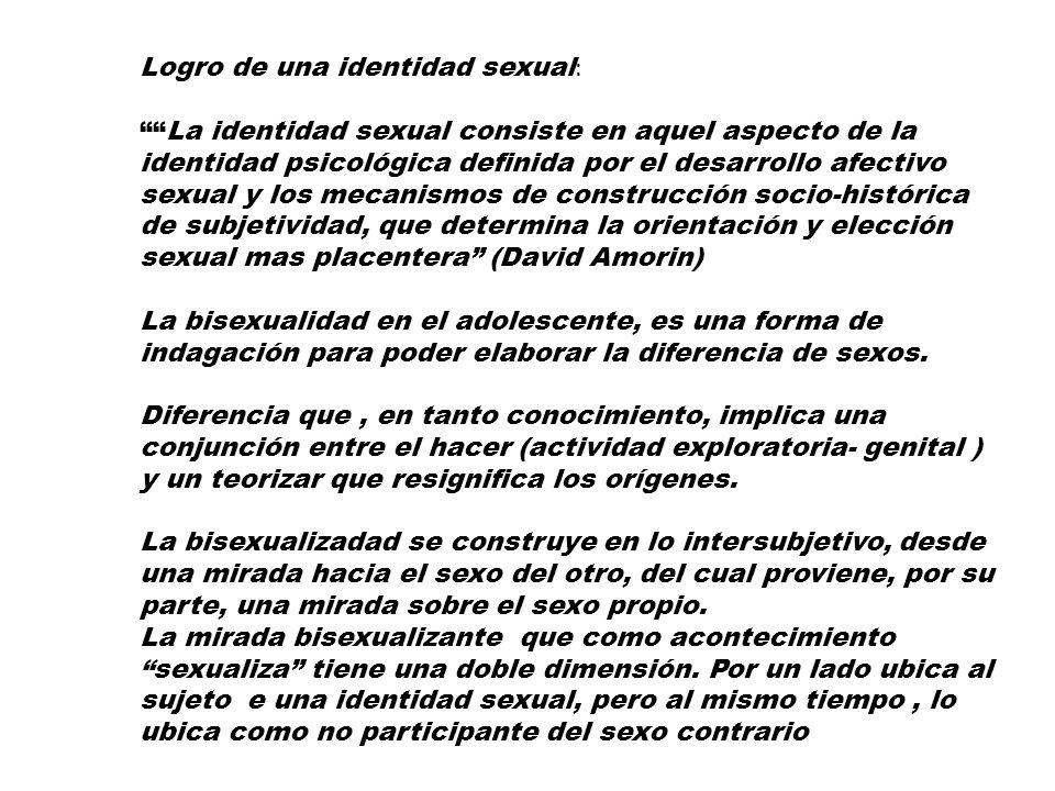 Logro de una identidad sexual: