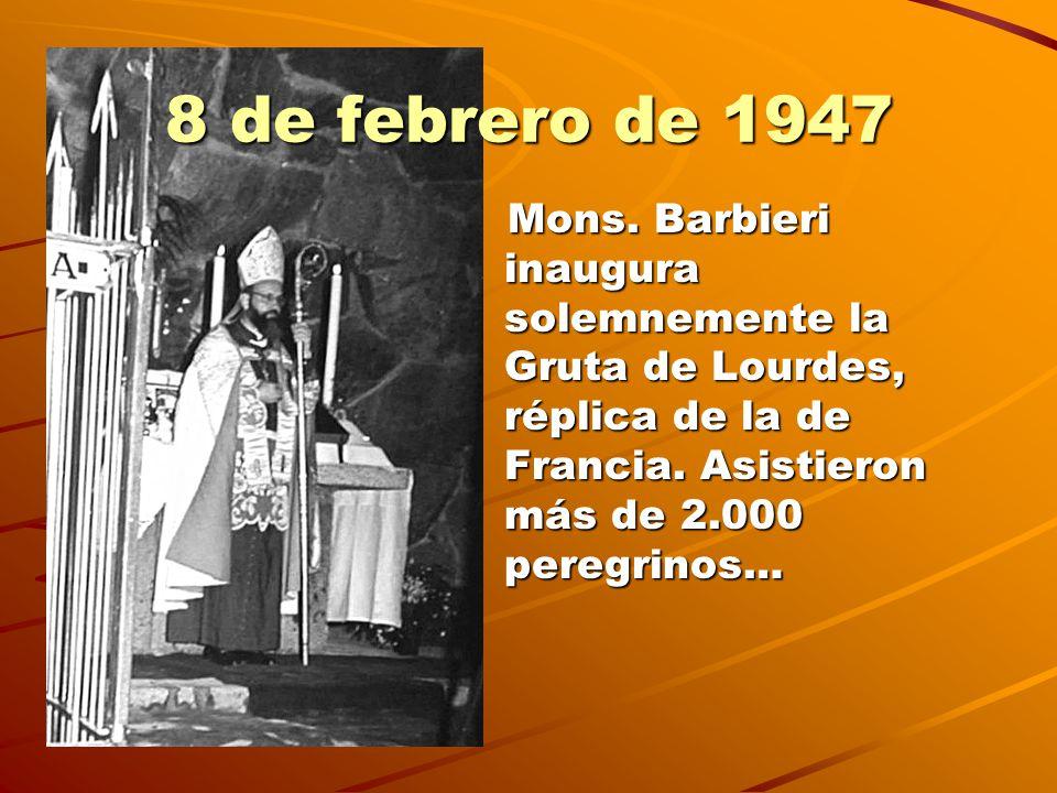 8 de febrero de 1947 Mons.