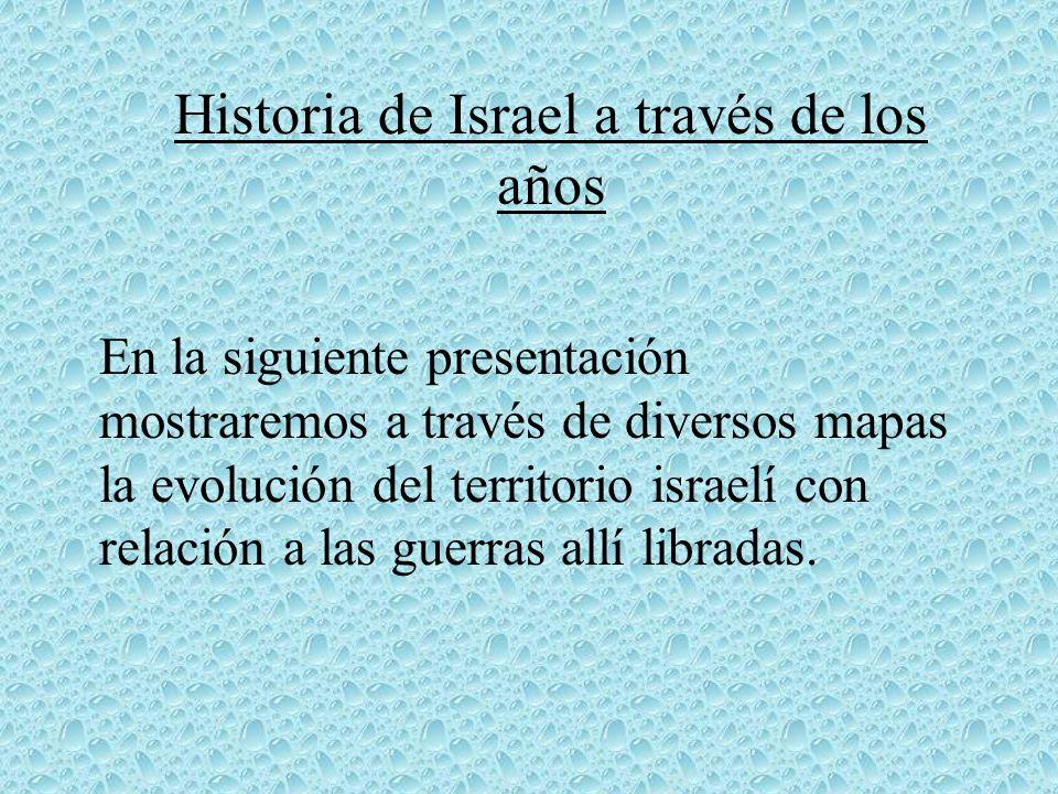 Historia de Israel a través de los años