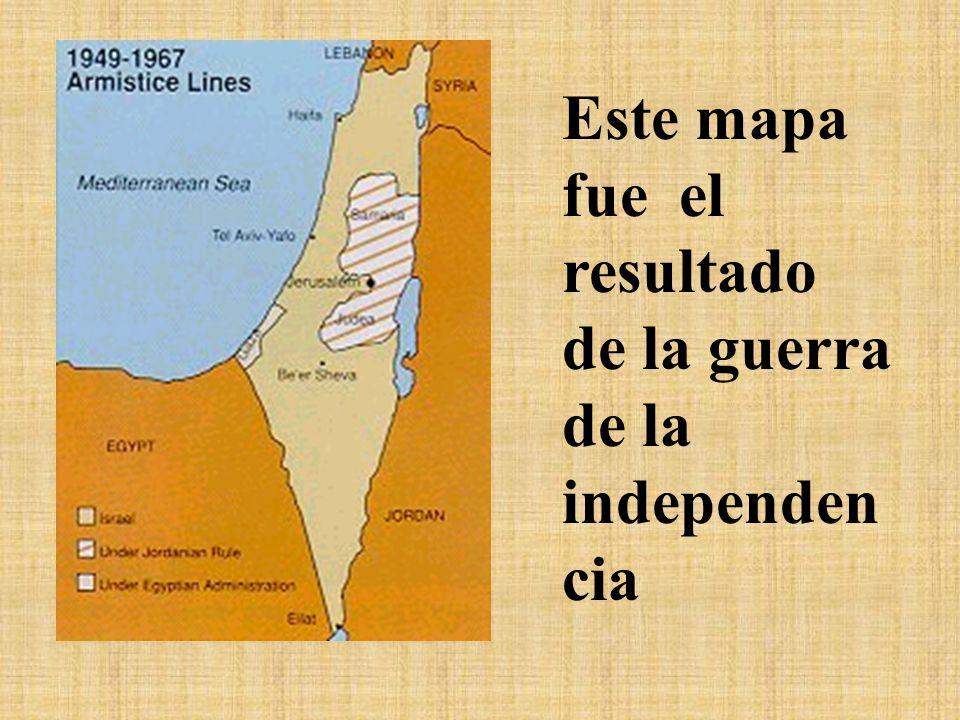 Este mapa fue el resultado de la guerra de la independencia