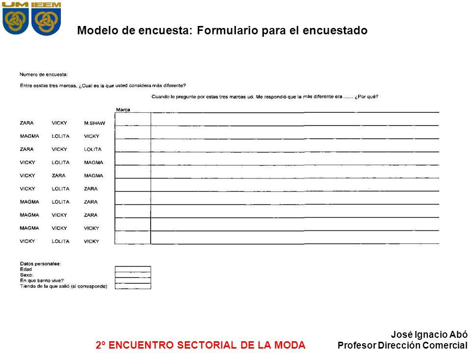 Modelo de encuesta: Formulario para el encuestado