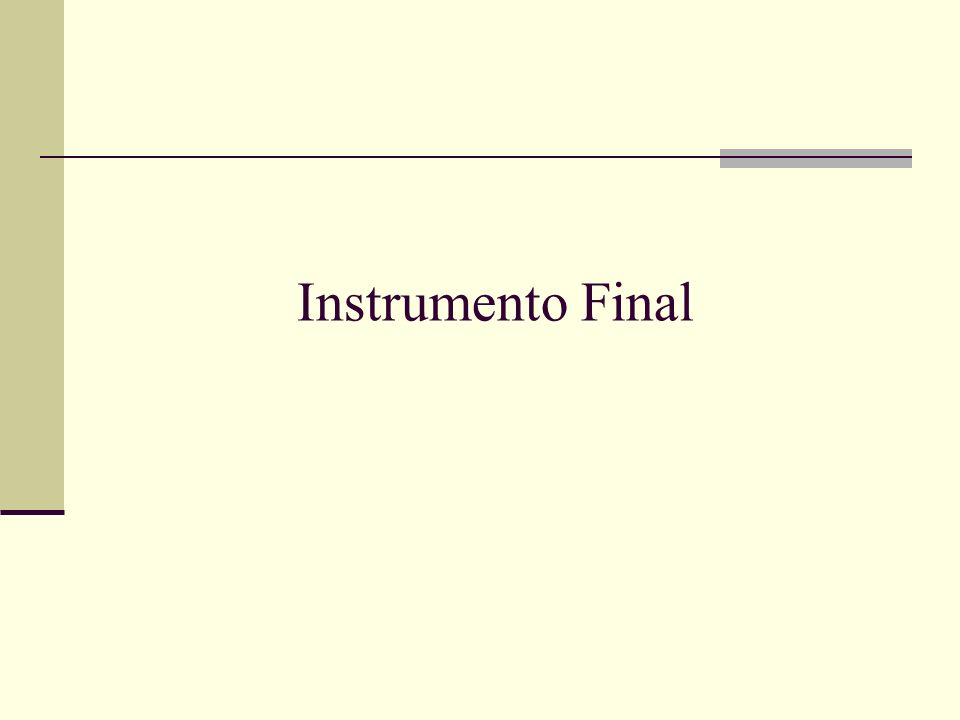 Instrumento Final