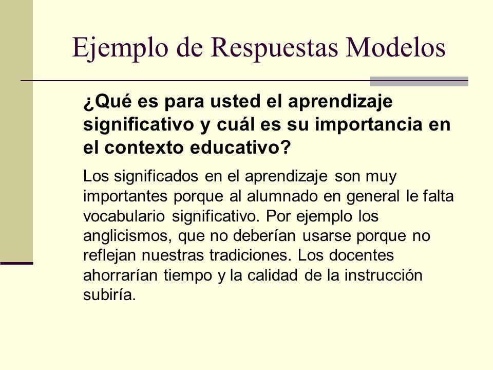 Ejemplo de Respuestas Modelos