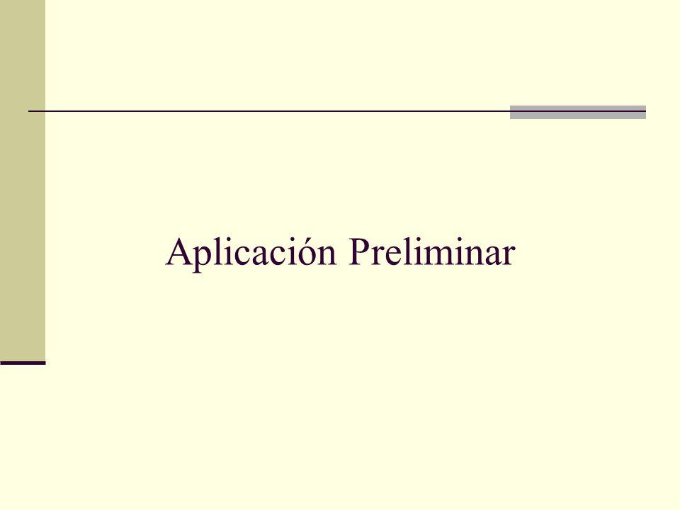 Aplicación Preliminar
