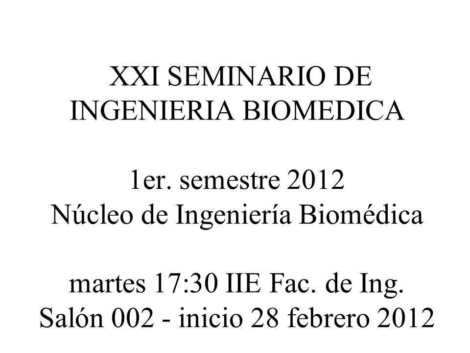 XXI SEMINARIO DE INGENIERIA BIOMEDICA 1er