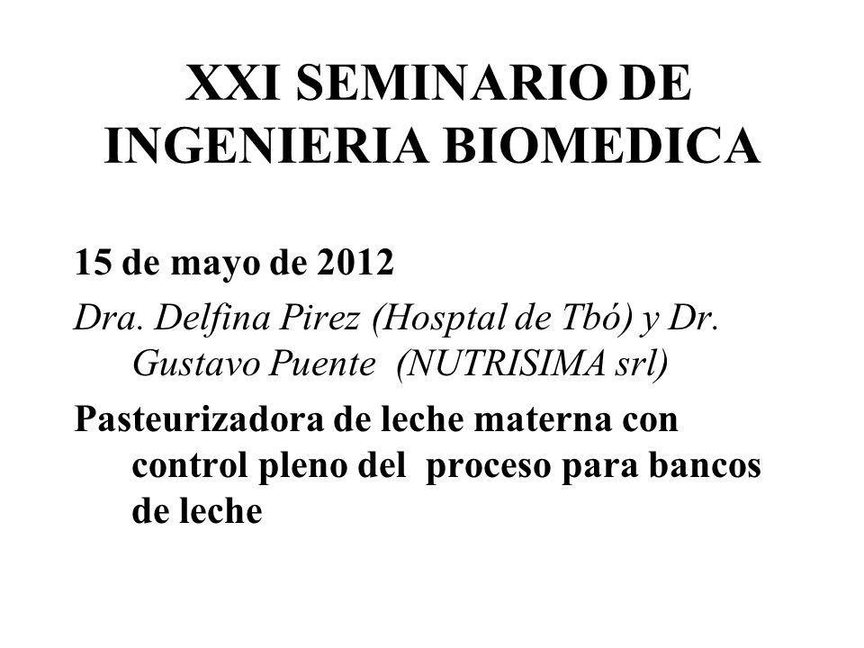 XXI SEMINARIO DE INGENIERIA BIOMEDICA
