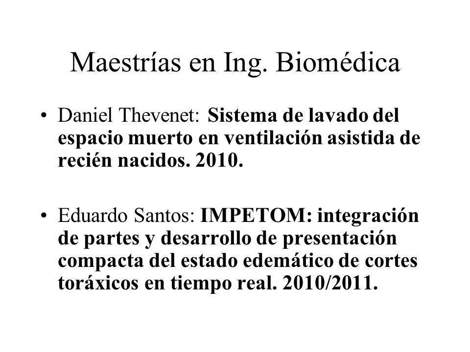 Maestrías en Ing. Biomédica